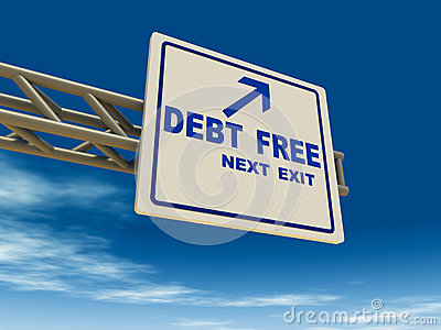 Debt free Stock Photo