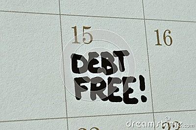 Debt Free On Calendar
