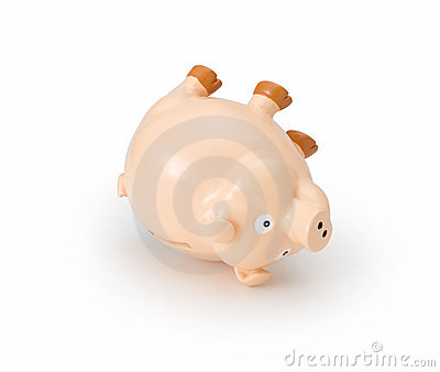 Debt Piggy Bank Crisis Failure