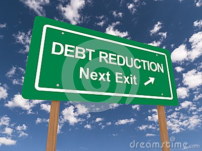 Debt reduction sign