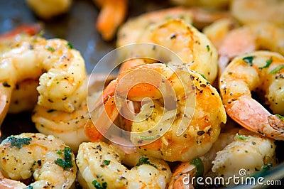 Decadent Sauteed Seasoned Shrimp Stock Image - Image: 6363631