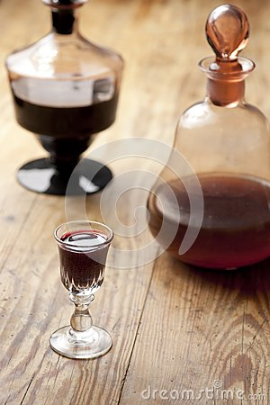 Free Decanter With Glass Of Liqueur. Royalty Free Stock Image - 26744076