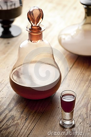 Free Decanter With Glass Of Liqueur. Royalty Free Stock Photography - 26779887
