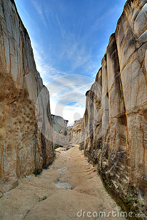 Decay granite canyon, South of China
