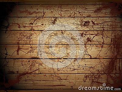 Decaying wooden floor