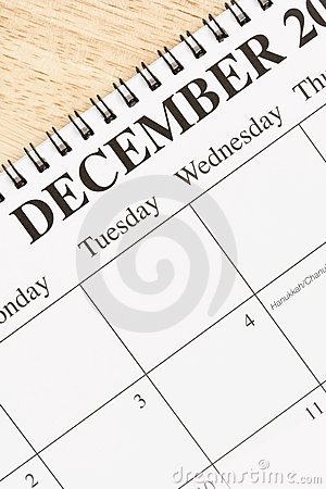 December on calendar.