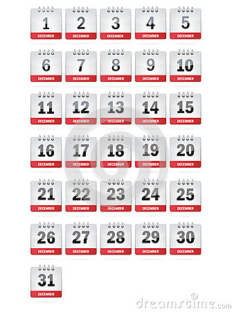 December Calendar Icons