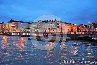 December dusk in Helsinki