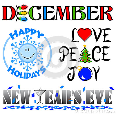December Events Clip Art Set/eps