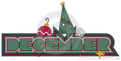 December Heading with Christmas Icons