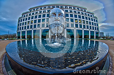 December 30, 2013 - metalmorphosis steel statue by david cherni Editorial Stock Image