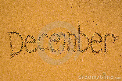 December in the sand