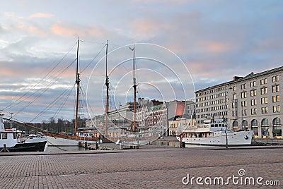 December sunrise in Helsinki