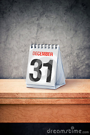 Free December The 31st On Desk Calendar At Office Table Royalty Free Stock Photography - 44517977