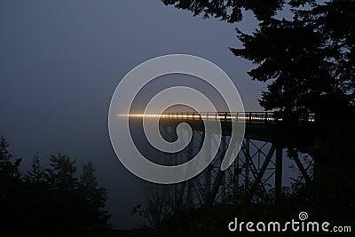 Deception Pass Bridge at Night