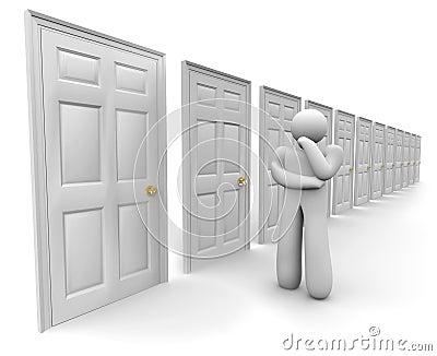 Deciding Which Door to Choose