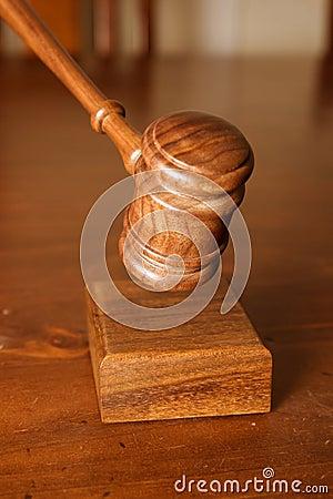 Decision made judges gavel hitting