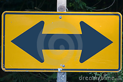 Decision road sign
