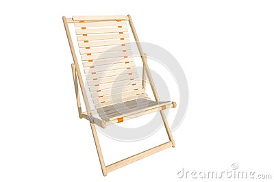 Deck chair isolated