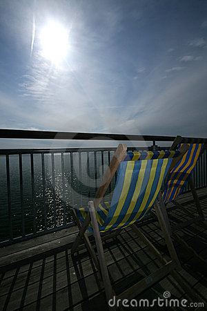 Deck Chair on Seaside Pier