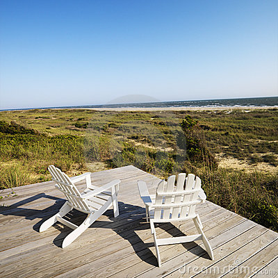 Free Deck Chairs On Beach. Stock Photo - 3470420