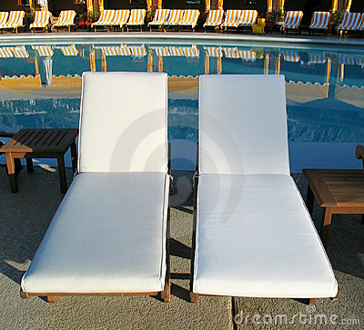 Deck Chairs at Resort Pool