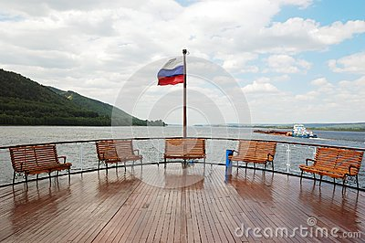 A deck on cruise boat