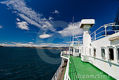 Deck of ferry
