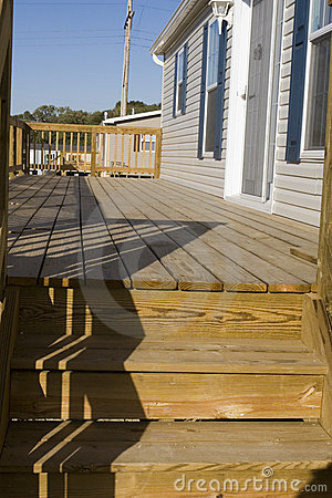 Free Deck, Modular Home Royalty Free Stock Images - 3391629