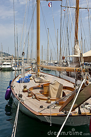 Deck of Sailboat