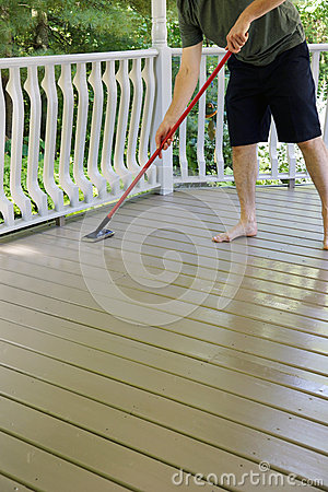 Free Deck Staining Royalty Free Stock Image - 31974226