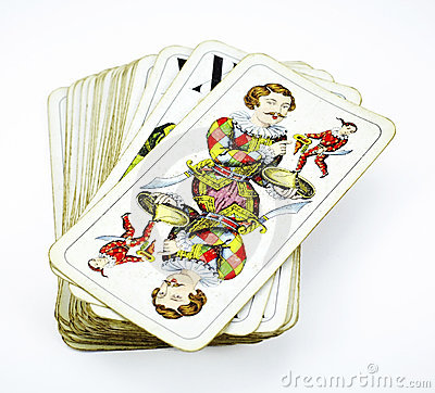 Deck of tarot game cards