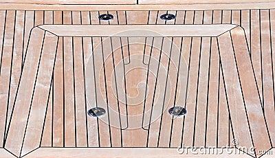 Deck of teak
