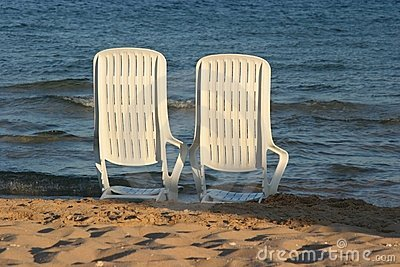 Deckchair on a beach