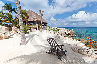 Deckchair karaibski morze