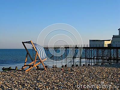 Deckchair by the Pier