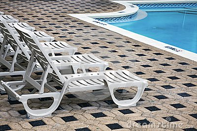 Deckchair by the pool