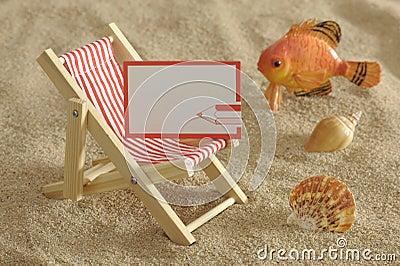 Deckchair at sunny beach