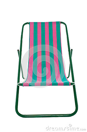 Deckchair on white background