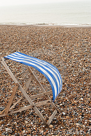 Deckchair on Windy Beach