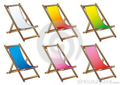 Deckchairs for beach and relax
