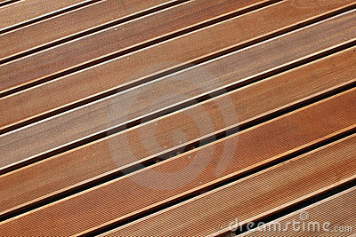 Decking da madeira do Teak