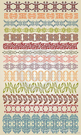Deco element edge border