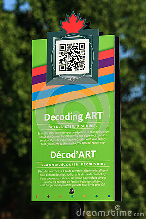 Decoding Art Sign Editorial Stock Image