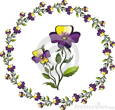 Decor with pansies