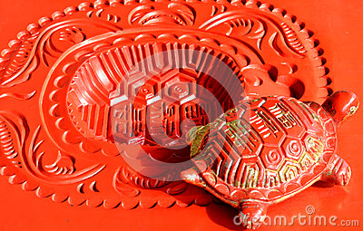 Decoração chinesa bonita, escultura afortunada da tartaruga
