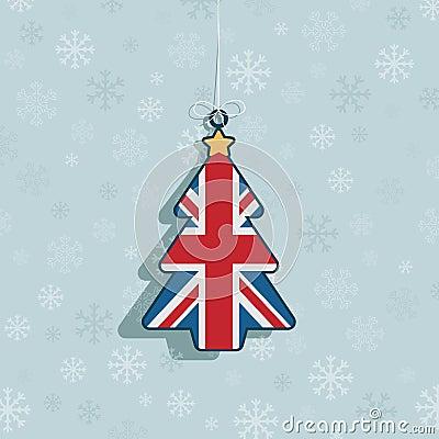 Decoración británica de la Navidad