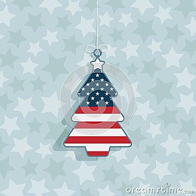 Decoración de la Navidad de los E.E.U.U.