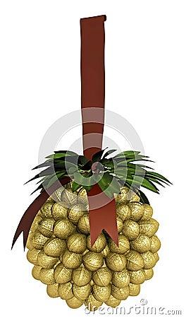 Decoración de oro de la Navidad