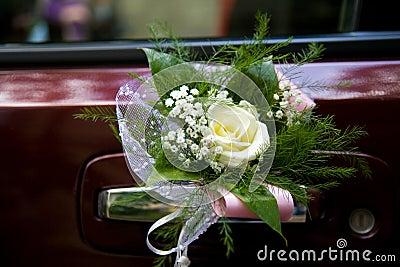 Decoración del coche de la boda